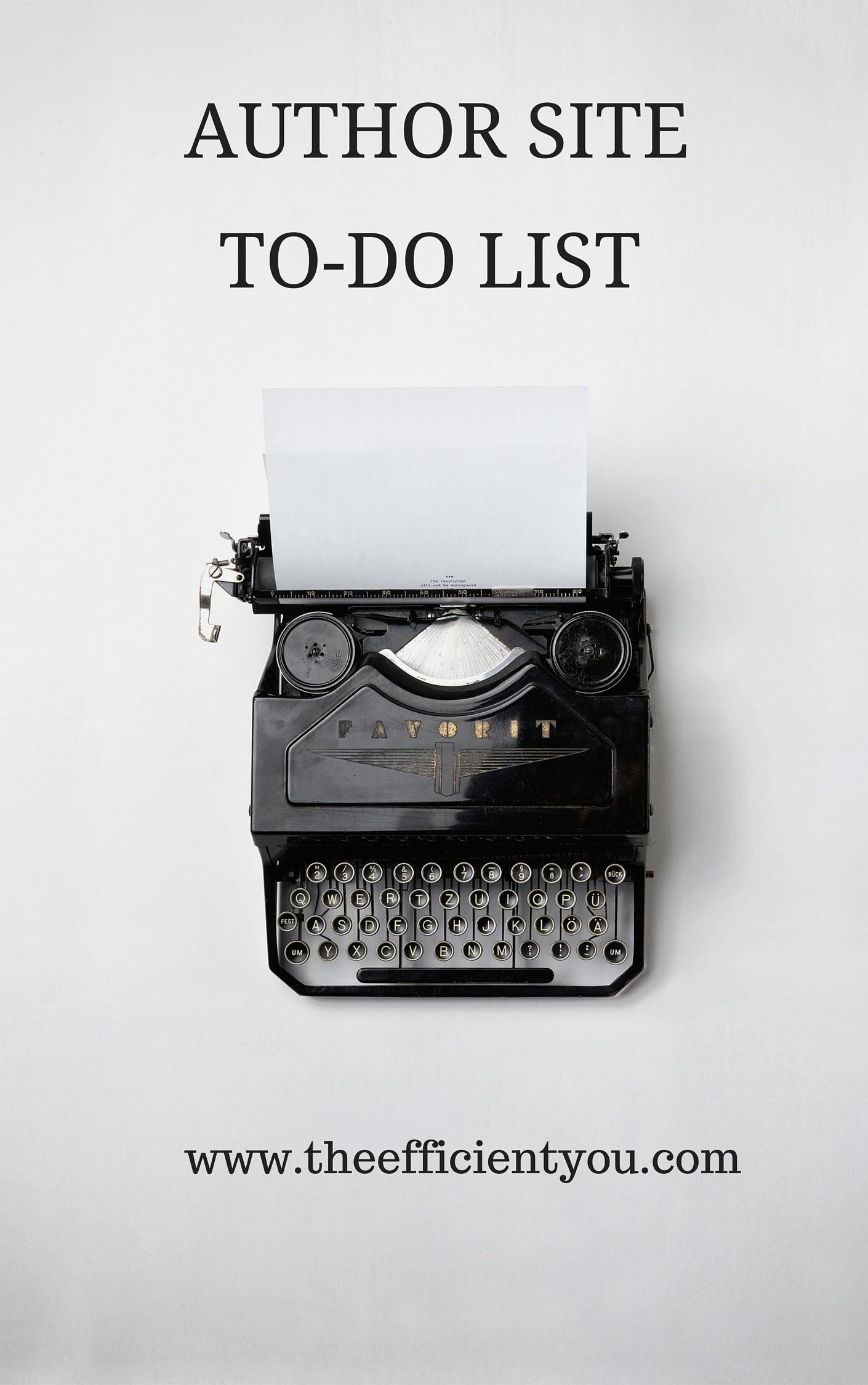 Author Site To-Do List
