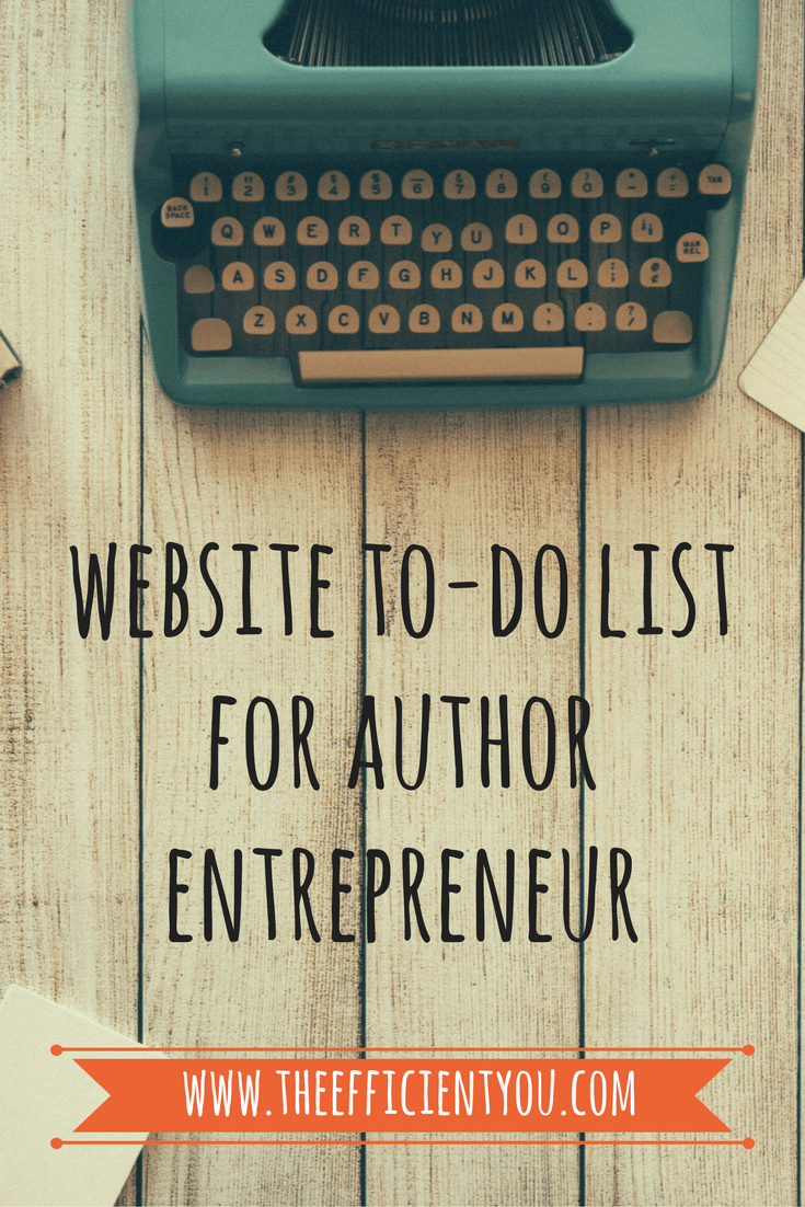 Author Entrepreneur Website To-Do List